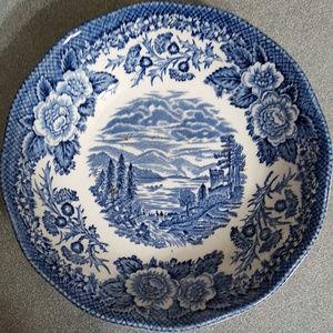 Vintage ceramic dish/bowl.Hand engraved. England